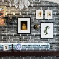 beibehang Chinese Vintage Brick Wallpaper Green Brick 3D Brick Wall Tensioned Wall Background Wall