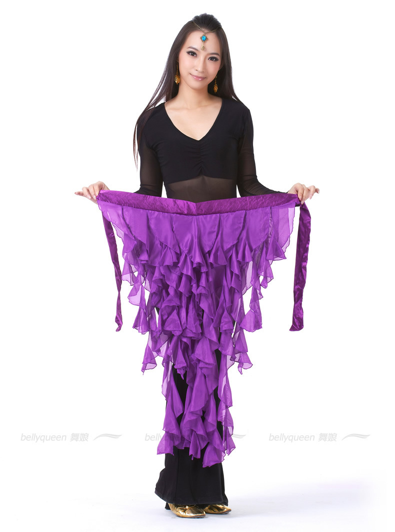 Belly dance costume clothes indian belt waist chain belly dancing hip scarf10 colors
