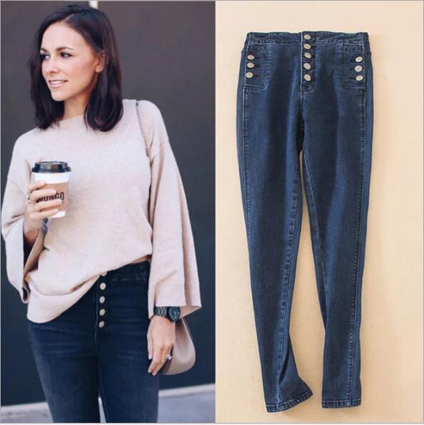 e1cbaccd6eb88 Skinny Push Up Jeans High Waist Women Sexy Jeans Female Denim Blue Black  Jeans 2018 Fashion