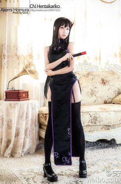 Magical Girl Akemi Homura Kaname Madoka Cheongsam Cosplay Costume Puella Magi Madoka Magica Kaname Madoka Sexy Dress Halloween 2