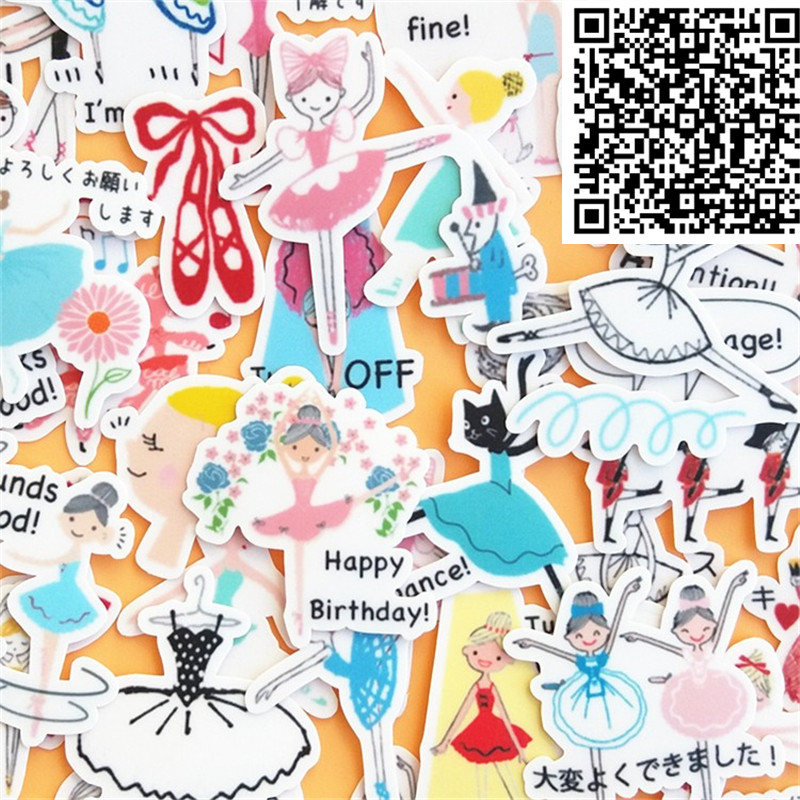 40 Pcs Students Dance Everyday Cartoon Stickers For  Phone Decorative Waterproof Sticker Scrapbooking For Laptop Children