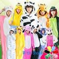 Inverno Quente Flanela Sleepwear Conjunto Unisex Cosplay Nighty Nighty Pijamas Set Quente Hoodie Dos Desenhos Animados Velo Coral De Veludo Pijamas 19