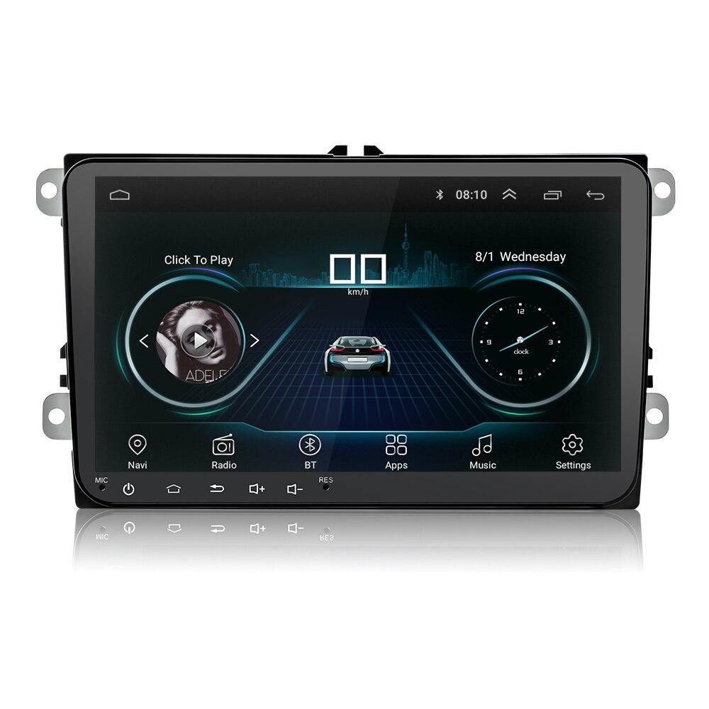 Double 2Din autoradio Android navigation gps Pour Skoda SIÈGE Passat Tiguan Magotan Wifi Bluetooth Android intelligente Pour V W