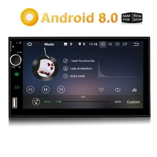 "Pumpkin 2 Din 7"" Android 8.0 Universal Car Radio No DVD Player GPS Navigation 4GB RAM Car Stereo Fast Boot Wifi DAB+ Headunit"