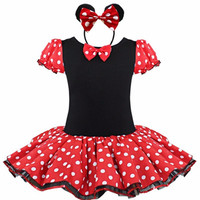 Halloween Cosplay Xmas Minnie Mouse Girls Dress Christmas Party Kids Girl Birthday Fancy Costume Ballet Tutu