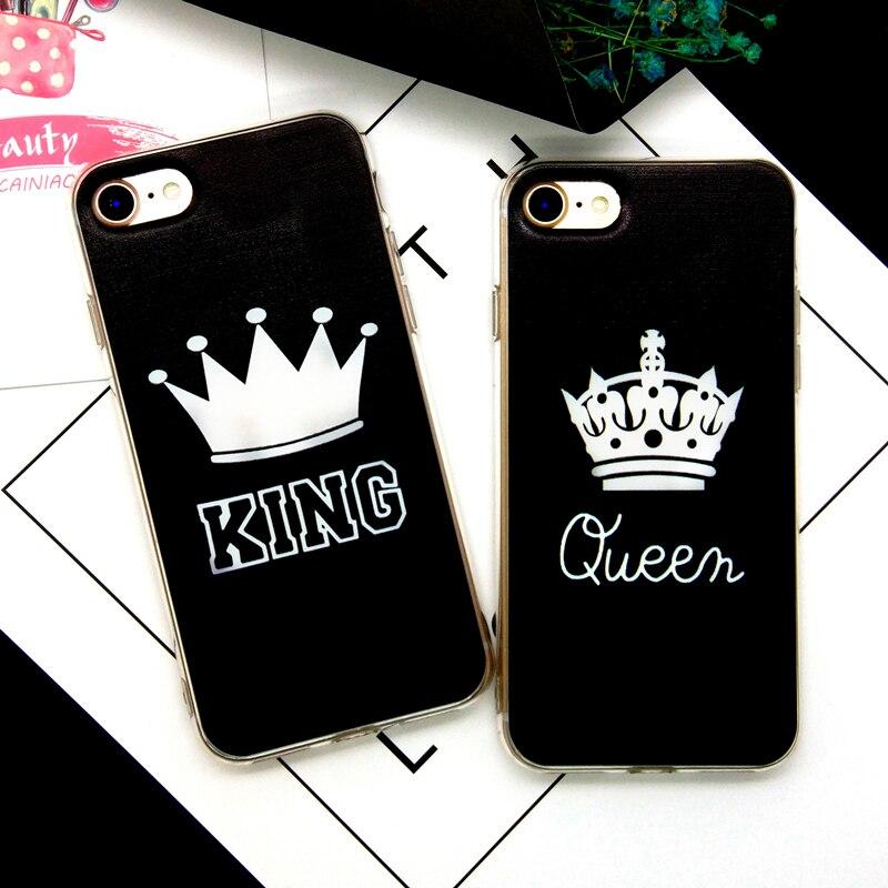 Casos de teléfono para iphone 5s 5 se 6 6 s 6 plus king queen mandala flor búho