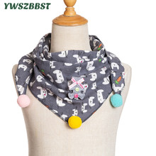 New Spring Cotton Baby Bibs Scarf Star Cat Print Autumn Winter Children Triangle for Girls Boys Kids Burp Cloth