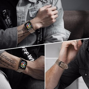 "Image 5 - MAIKES עור צפו בנד עבור אפל שעון 44 מ""מ 40 מ""מ/42 מ""מ 38 מ""מ סדרת 4 3 2 1 Watchbands עבור iWatch אפל שעון רצועה"
