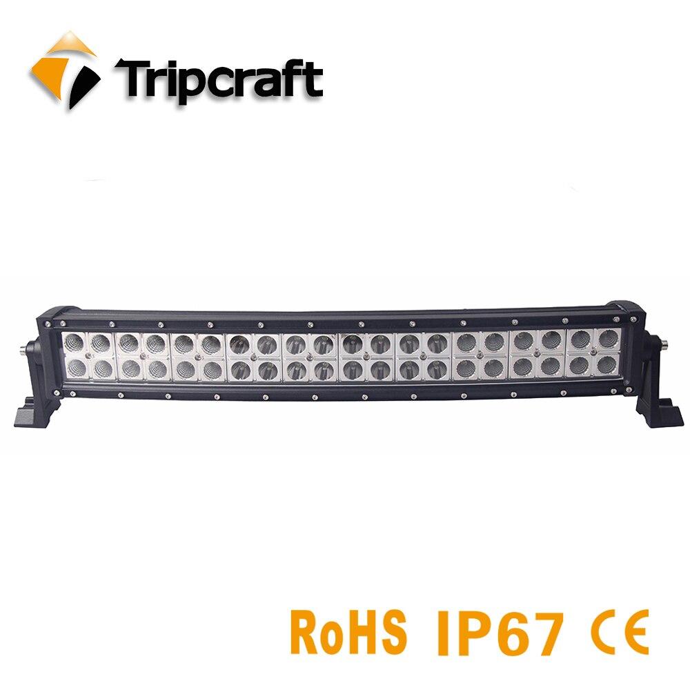 TRIPCRAFT 120 Вт Epistar Изогнутые Светодиодный Подсветка крючок для внедорожных автомобилей 4x4 грузовик внедорожник Rampe Combo Луч 12 В 24 В Авто Вождение ...