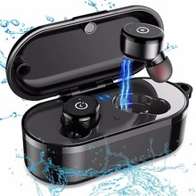 IPX8 Waterproof Bluetooth earphone Wireless With Mic Car Headset and Charging Box Earbuds