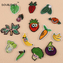DOUBLEHEE Patch Vegetables Onions Broccoli Carrots Embroidered Iron On Patches For Clothing Motif Embroidery DIY  Bags