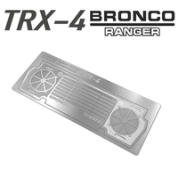 1/10 rc crawler model car metal radiator guard assembly for 1:10 scale traxxas trx4 bronco remote control toys truck