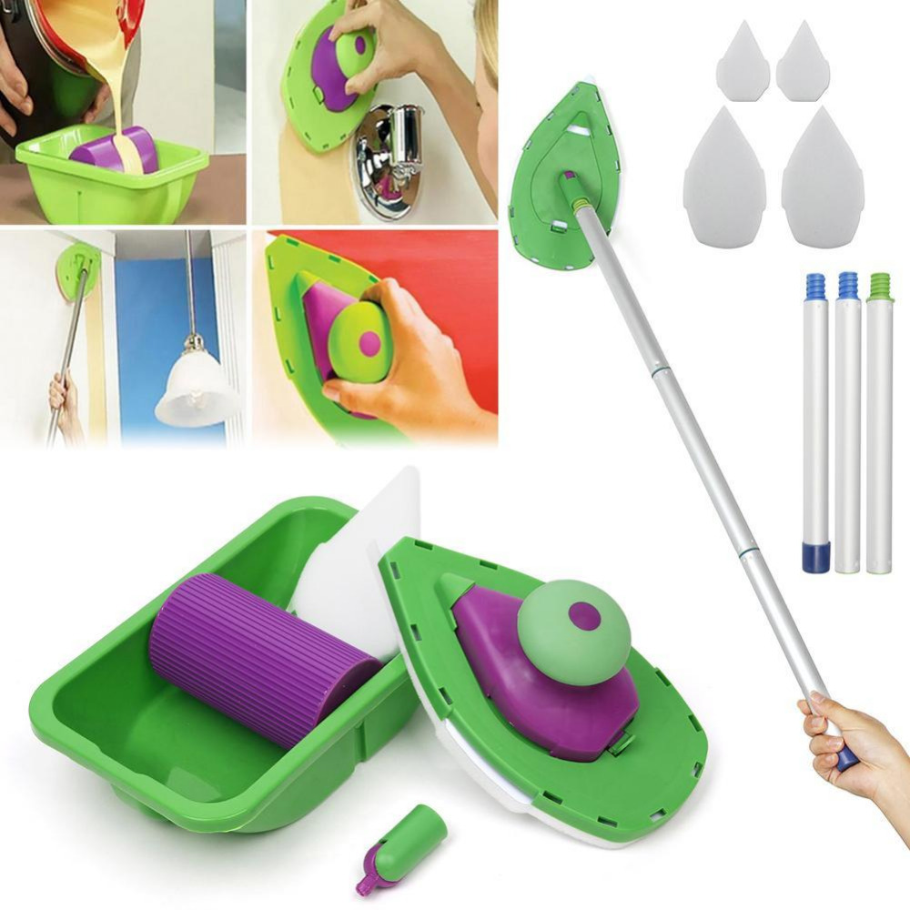Paint Brush Paint Tray Roller Paint: Point And Paint Roller And Tray Set Household Painting