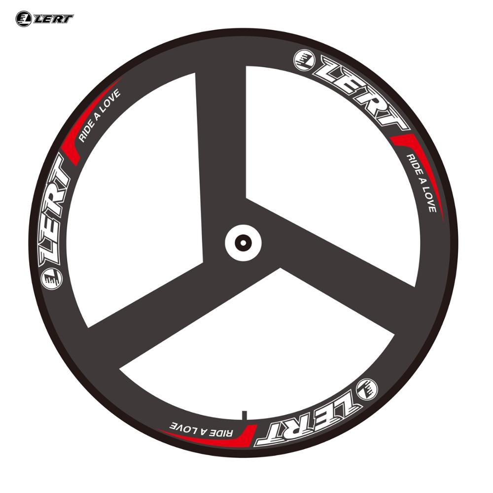 New arrival LERT 700C Fixed Gear Track Road bike 3K UD 12K full carbon fibre bicycle 3 spoke clincher rims wheelsets Free ship Bicycle Wheel     - title=