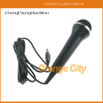 ChengChengDianWan 5pcs Universal USB Wired Microphone For PS2/PS3/ For Xbox One/Xbox 360 For Wii/PC with package box