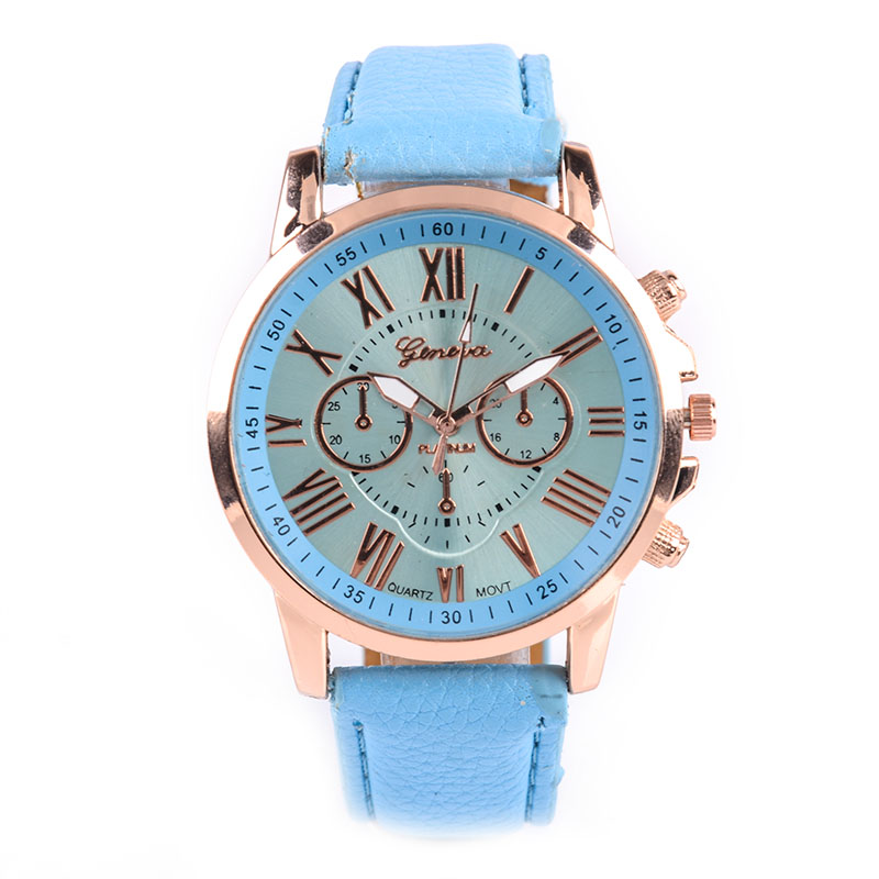 Luxury Brand Watches Women Geneva Quartz Analog Wristwatch PU Leather Watch Band Roman Numerals Dial Watch Relogio Feminino excellent quality geneva watch women watches reloj mujer dropship 2017 casual roman numerals pu leather mechanical clock luxury