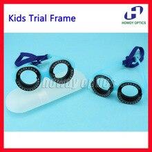 어린이 편안한 광학 시험 프레임 고정 pd 48 56 어린이 시험 렌즈 프레임 시력 측정 비전 테스트 경량
