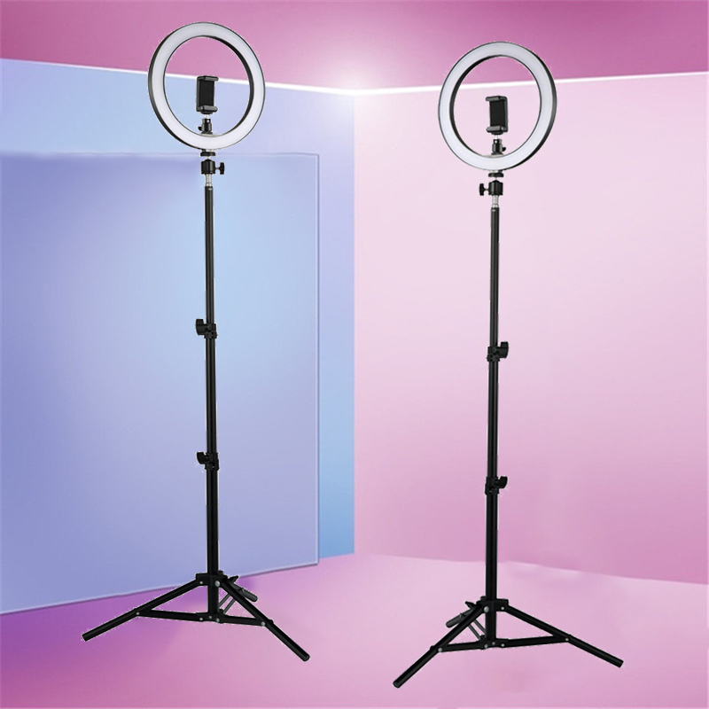 LED Ring Light  Selfie Novelty Lights 12W 5500K Photo Studio Photography Photo Ring Lamp With Tripod For Iphone Yutube Makeup