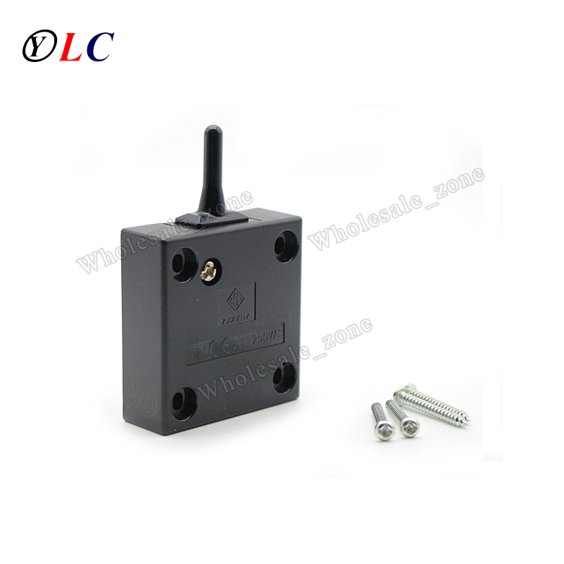 2a 250v 500w Black Wardrobe Door Cupboard Doors / Sliding Door / Universal Switch Normally Closed High-quality Self-reset Switch Bright Luster