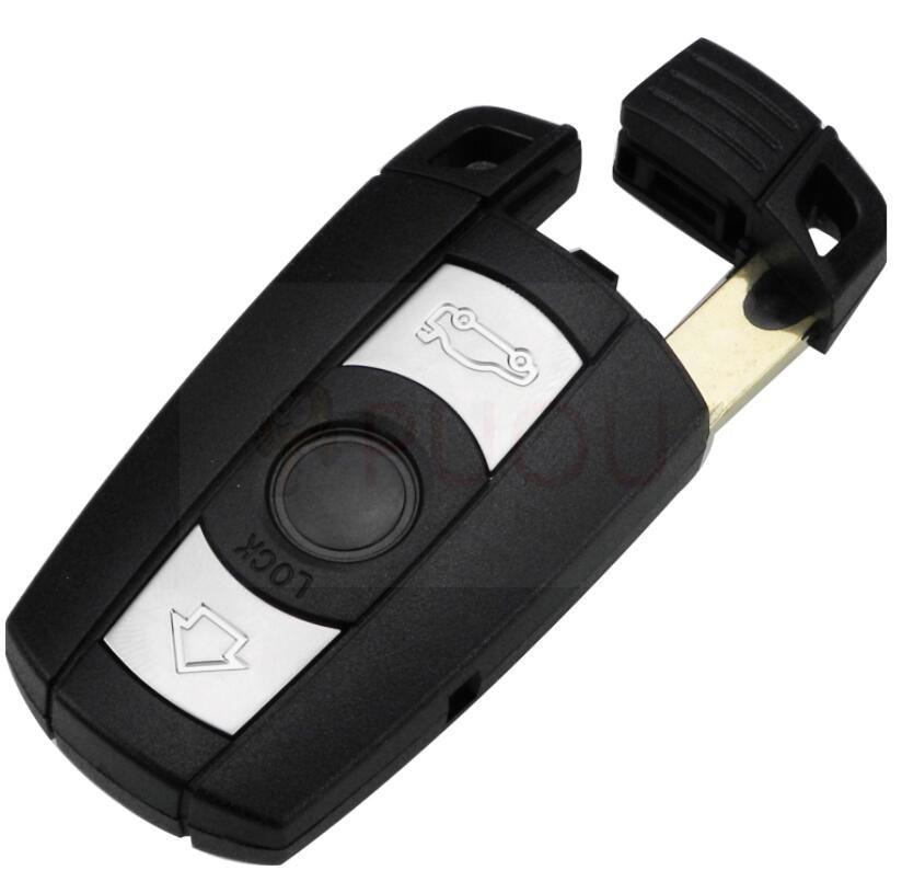 3 Button Remote Smart Car Key Case Cover shell Blade Fob For BMW 1 3 5 6 Series Smart E90 E91 E92 E60 With logo