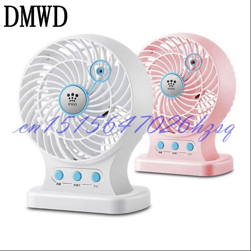 DMWD Household Mini USB 3W Anion fan Mute for Office/living room/desktop Two gears Roate ...