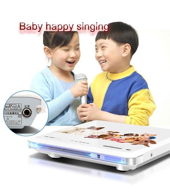 Специальные Оптовые НОВЫЙ Караоке SA-218 дети учатся Dvd-плеер EVD Мини CD VCD HD домой Продукт для России