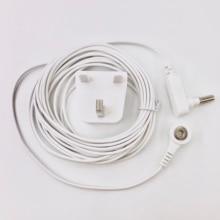 Earthing Cable UK Socket plug with grounding cord for Earthing sheet / grounding Mat