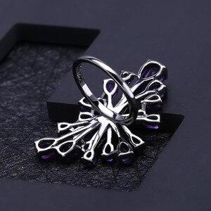 Image 4 - GEMS BALLETT 6,18 Ct Natürliche Amethyst Edelstein Cocktail Ring 925 Sterling Sliver Vintage Gothic Punk Ring Für Frauen Partei Schmuck