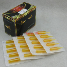 50PCS 7M Gold Shark Disposable Tattoo Sterile Tips Nozzle Supply – Flat/Magnum Tip 7M GSDT-7M