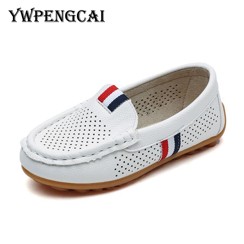 Kids Fashion Casual Shoes Solid Yellow Toddler Loafers Shoes Slip-on Leather Children Soft Breathable Shoes 2019 Spring Autumn Mother & Kids