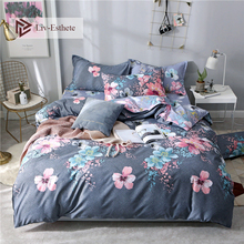 Liv-Esthete Fashion Colorful Flower Bedding Set Soft Duvet Cover Flat Sheet Bedspread Double Queen King Adult kids Bed Linen