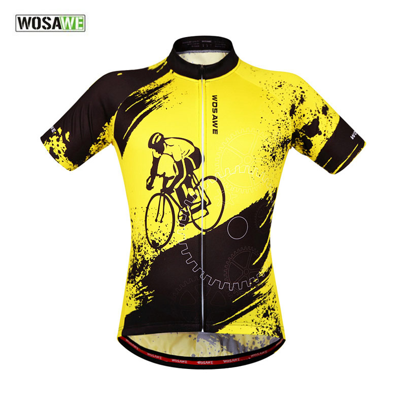 WOSAWE Summer Cycling Jersey Bike Clothing Short Sleeve Riding Bike Bicycle Jersey Professional Bike Equipment Accessories