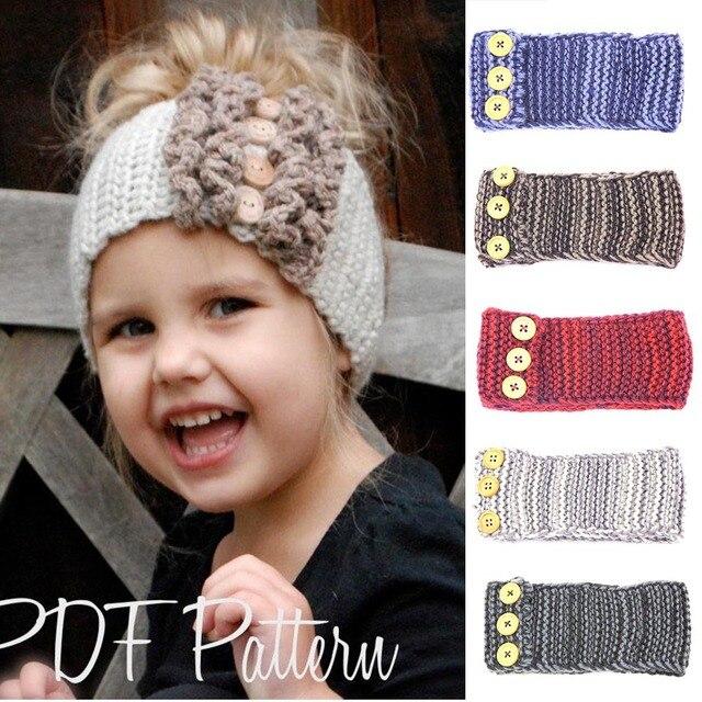 Niños accesorios bebé venda del pelo de lana que hace punto caliente ...