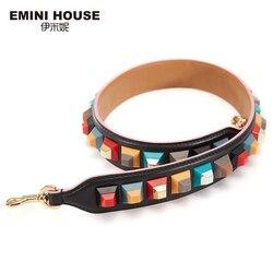 EMINI HOUSE correa de hombro de cuero genuino colorido acrílico bolso de mujer Correa 89cm * 4cm