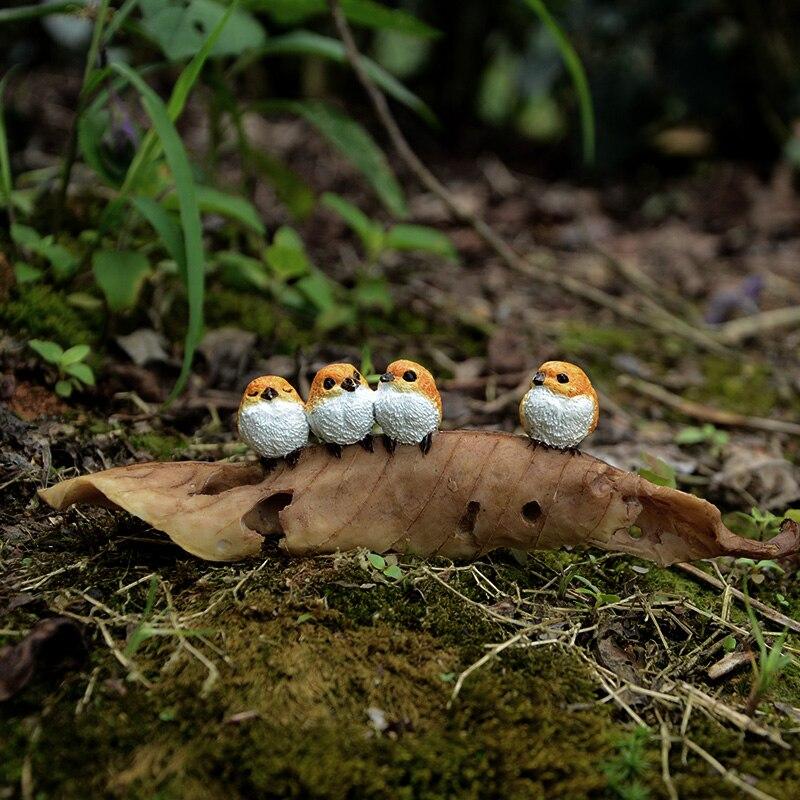 Garden-Plant Birds Leaf-Figure-Models Sparrows Farm-Animals Cute Frogs Couple Cubs Desktop-Gifts