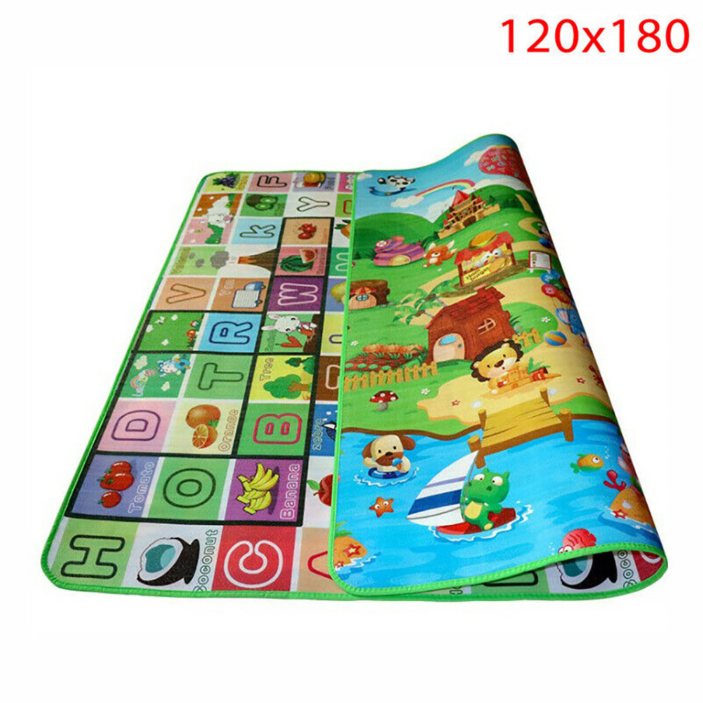 Waterproof Floor Kids Developing Play Mat Rug Child Infant Baby Kid Crawling Game Mat Two Side Innrech Market.com