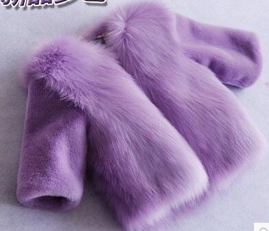 Pink Baby Girls White Faux Fur Coat Toddler Faux Fur