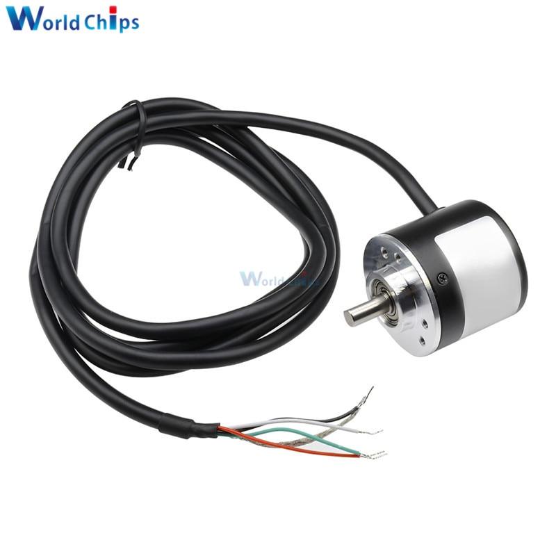 Incremental Rotary Encoder 5-24V DC Encoder 360/600 P / R Photoelectric Incremental Rotary AB Two Phases 6mm Shaft