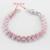 Flor Rosa Criado CZ de Prata Banhado Conjuntos de Jóias Para Mulheres Colar Pingente Brincos Anéis Pulseira Presente Do Feliz Natal