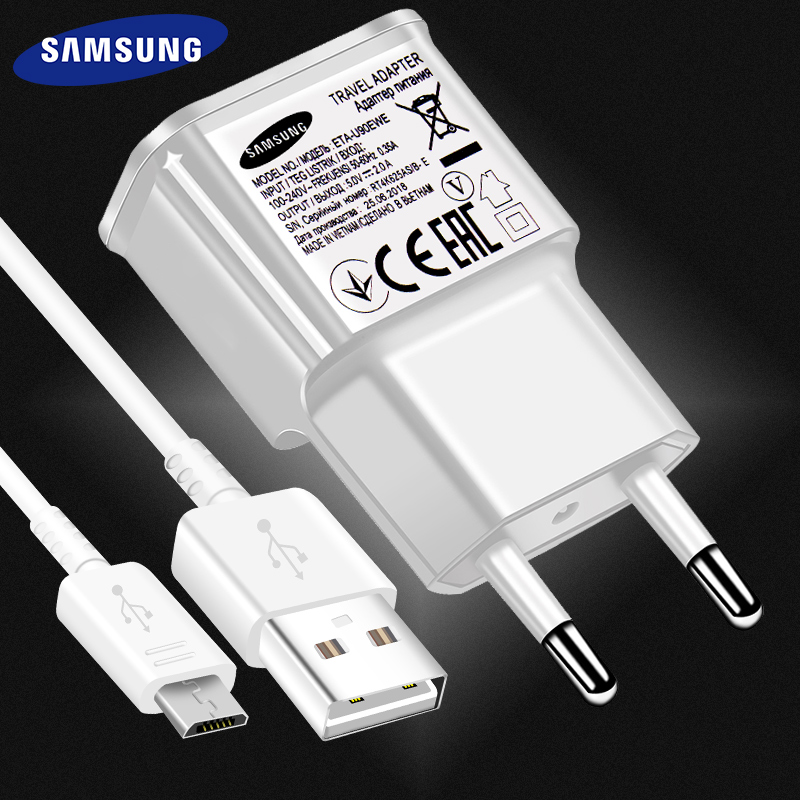 <font><b>Samsung</b></font> Galaxy S6 S7 edge Fast <font><b>Charger</b></font> J3 J5 J7 Note 4 5 A3 S2 A5 <font><b>A7</b></font> 2016 2A micro cable for honor 9 lite 5x 5c 6a 6x 7x 5V2A image
