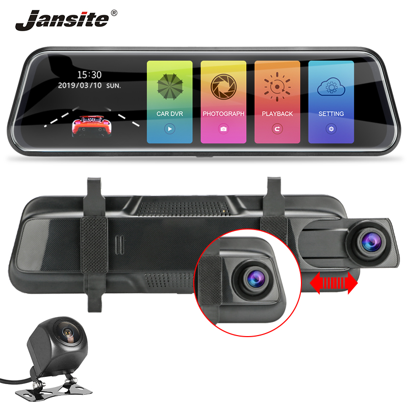 Jansite 10 dash cam 1080P Full Touch screen dvr camera Parking Monitor G Sensor Loop Recording