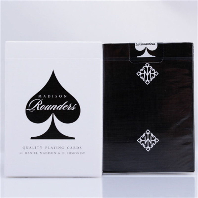 Black Madison Rounders Black Deck By Daniel Madison and Ellusionist Quality Playing Cards Magic Tricks props magic card ...