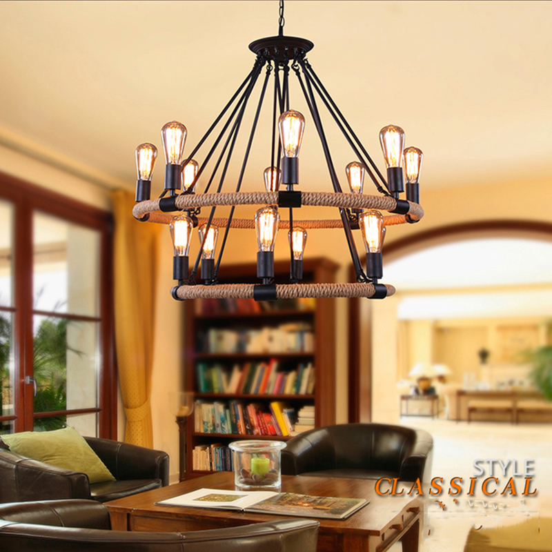 retro wrought iron chandelier lighting industrial loft vintage lamps 110 or 220v bar cafe living restaurant - Wrought Iron Chandelier