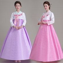 Top + Skirt +Hair Band Women Korean Traditional Dress Korean Court Wedding Costumes National Costume Hanbok Asia clothing 16(China)