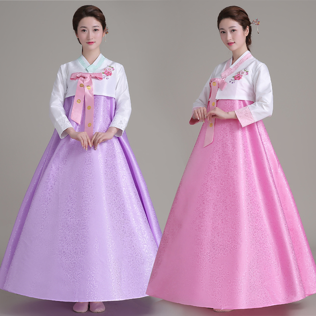84c2820e3 Top + falda + banda de pelo mujeres vestido coreano tradicional coreano  corte trajes de boda