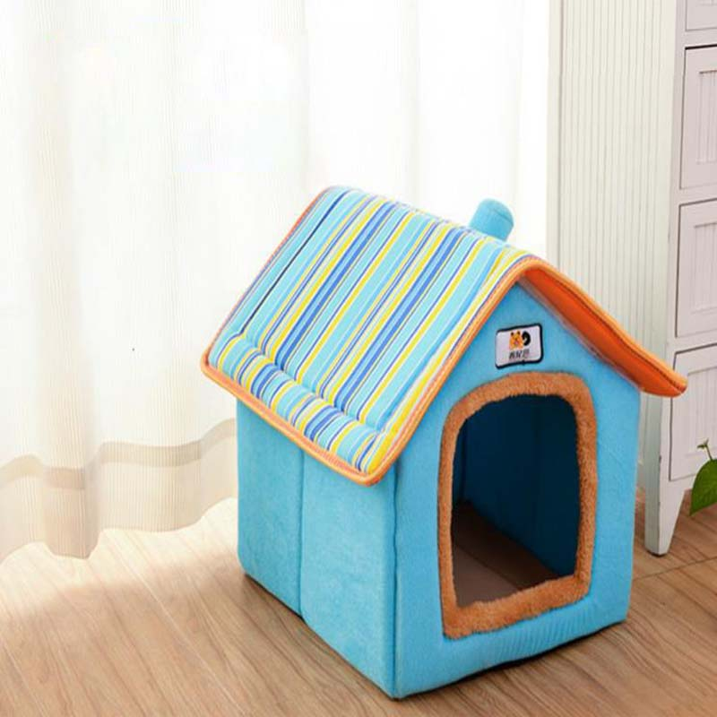 Fashion Removable Cover Dog House Pet Bed Warm Soft Dog ...