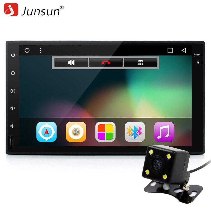 """imágenes para Junsun 7 """"nuevo Android 6.0 Jugador Del Coche Doble 2 Din 1024*600 Universal Autoradio Navegación GPS Quad core de Radio Audio Estéreo"""