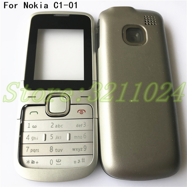 brand new f3a9b 39095 US $7.11 6% OFF|Original Full Housing Case For Nokia C1 01 Cover Facing  Frame + middle + back cover + keypad cell phone part With Logo-in Mobile  Phone ...