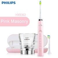 Philips Sonicare DiamondClean Sonic электрическая зубная щетка розовый с 5 режимов USB зарядное устройство для взрослых детей HX9362/68