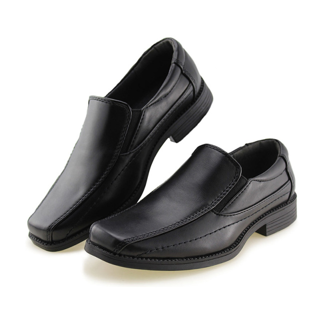 JABASIC Kids School Uniform Dress Shoes Slip-on Oxford Loafers Soft PU Leather Casual Shoes Boys Loafers Boys Shoes Child